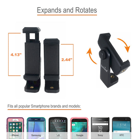 Image of phone tripod with remote