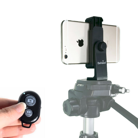 Image of iphone tripod mount with remote