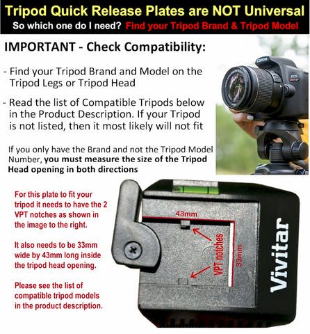Image of vivitar vpt-360 mounting plate
