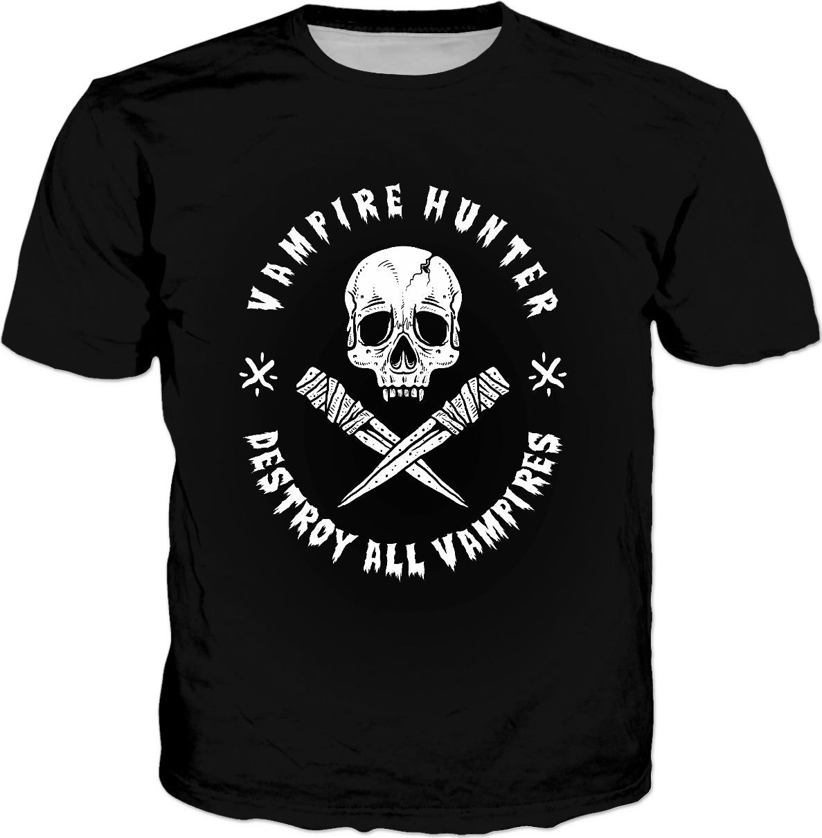 Vampire Hunter Destroy All Vampires T-Shirt - Halloween Tee - The Lazy Raven