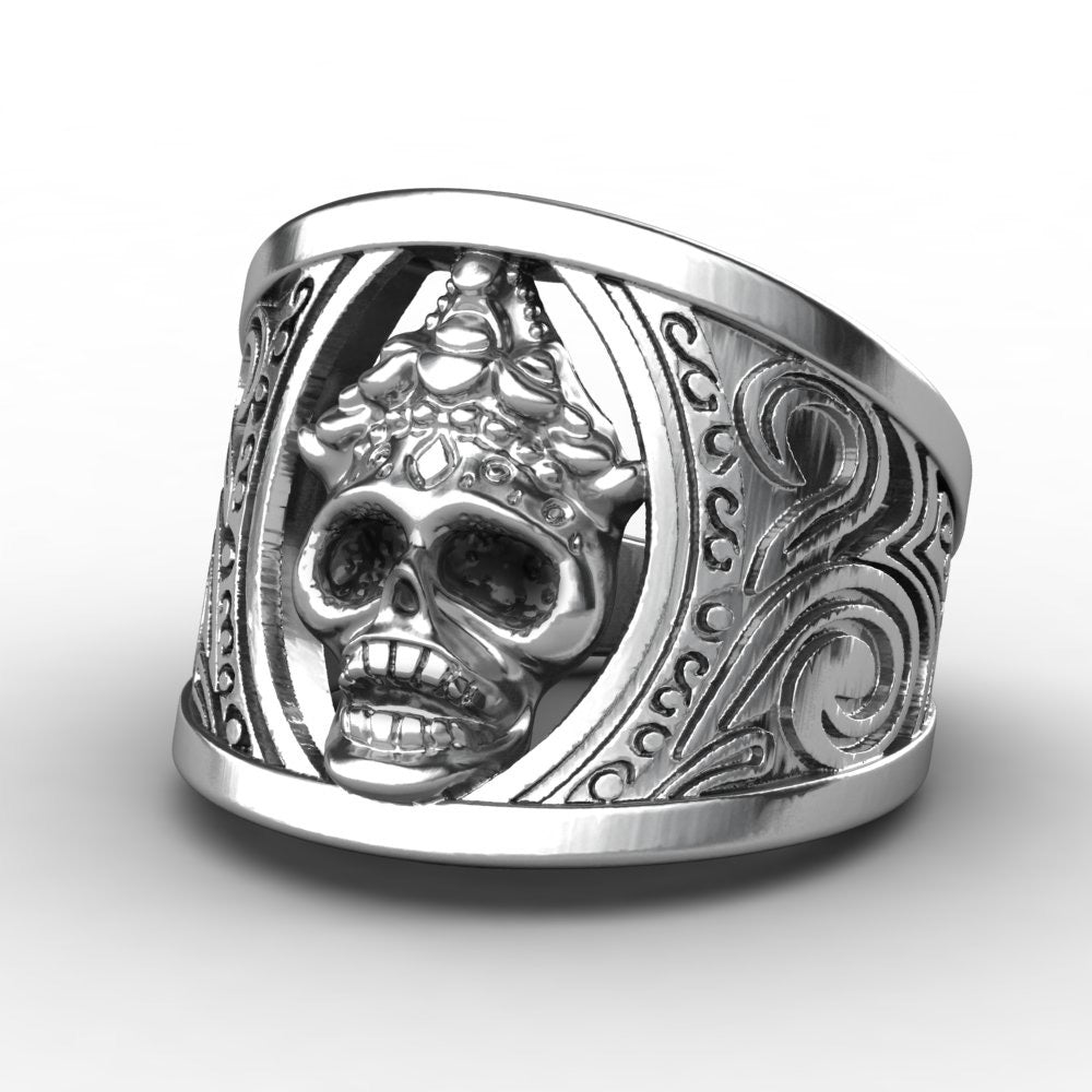 Crown Skull Ring - The Lazy Raven