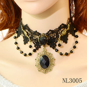 Rose By Any Other Name Choker Necklace - The Lazy Raven