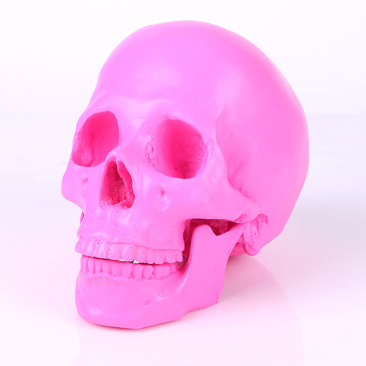 Resin Pink Skull - The Lazy Raven