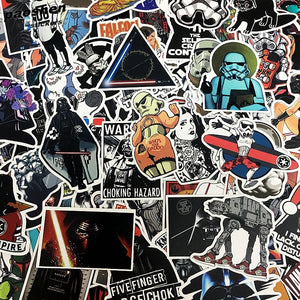 100 Pcs  Sci-Fi  Stickers Grab Bag - The Lazy Raven