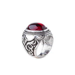 Red Ruby Ring - The Lazy Raven