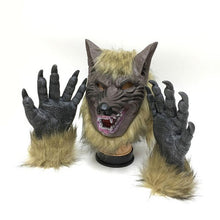 Werewolf Mask Gloves Halloween Horror Devil Mask Party Supplies Festival Party Decoration Headgear - The Lazy Raven