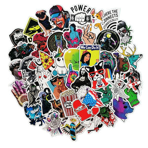 50 pcs  Classic Stickers Grab Bag - The Lazy Raven