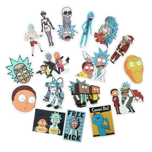 35 Pcs Rick And Morty Stickers - The Lazy Raven