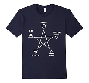 Five Elements Pentagram T-Shirt - The Lazy Raven