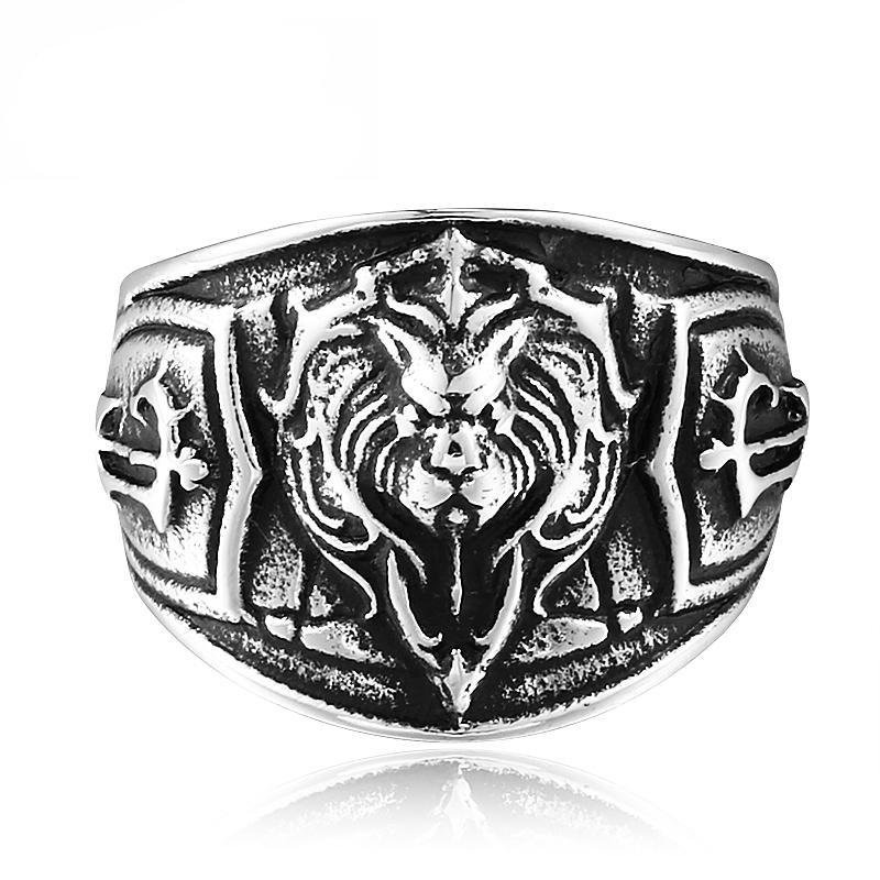 Lion Head Ring - The Lazy Raven