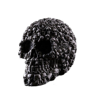 Escaping Death Resin Skull - The Lazy Raven