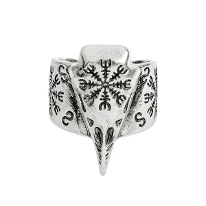 Lazy Raven Skull Ritual Ring - The Lazy Raven