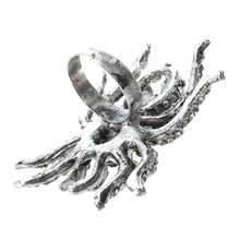 Tibetan Silver spider Ring - The Lazy Raven