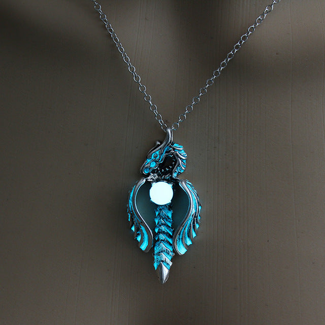 Twisted Glowing Dragon Necklace - The Lazy Raven
