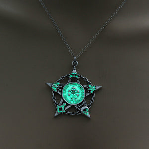 Glowing Pentacle Necklace - The Lazy Raven