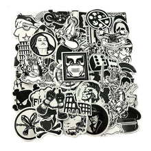 100PCS  Black and White Stickers Grab Bag - The Lazy Raven