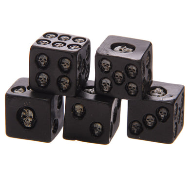 1 Set of 5  Black Skull - The Lazy Raven