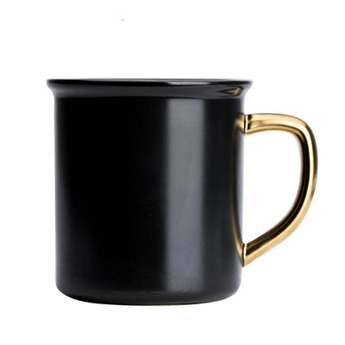 Porcelain Black Mug - The Lazy Raven