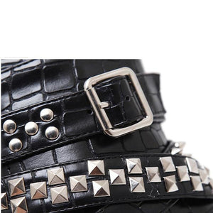 Metal Chains Motorcycle Boots