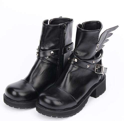Leather Wing Boots
