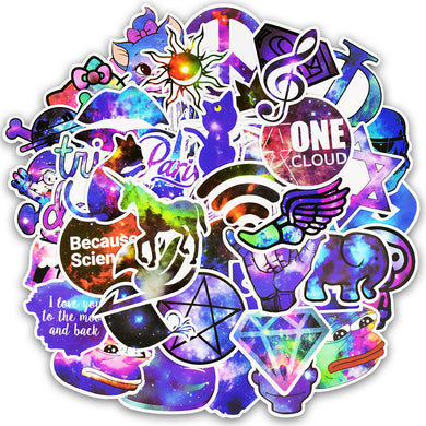 50pcs  Galactic Grab Bag Stickers - The Lazy Raven
