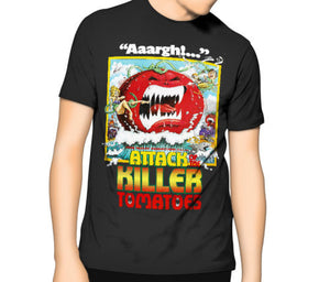 Attack of the Killer Tomatoes T-shirt - The Lazy Raven