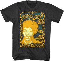 Jimi Hendrix Voodoo Child Live 1969 Woodstock Adult T Shirt - The Lazy Raven