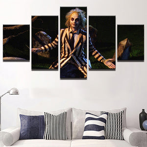5 Piece Beetlejuice Wall Art - The Lazy Raven