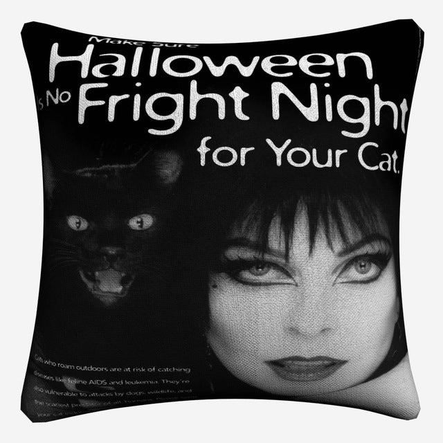 Elvira Macabre Decorative Pillow Case - The Lazy Raven