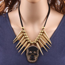 Skull Spike Necklace - The Lazy Raven