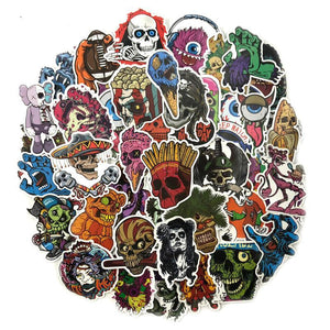 50 Pcs Zombie Stickers Grab Bag - The Lazy Raven