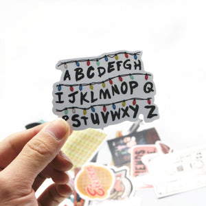19 Pcs Stranger Things Stickers - The Lazy Raven