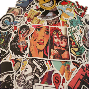 50 pcs Vintage Comics Stickers Grab Bag - The Lazy Raven