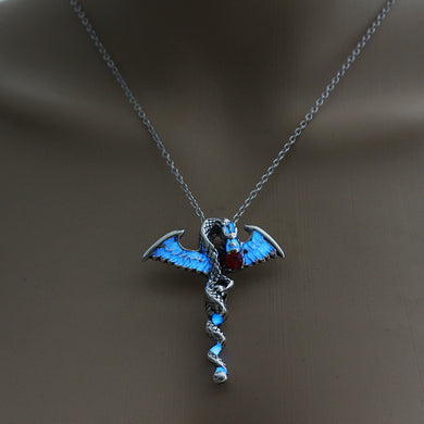 Glowing Dragon Necklace - The Lazy Raven