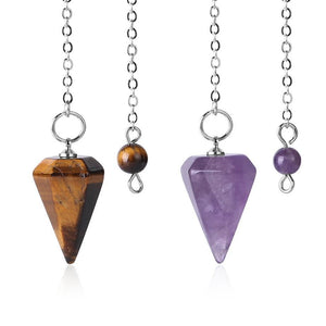 Healing Crystal Reiki Charged Pendulum