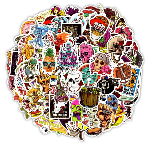 150 PCS  Horror Stickers Grab Bag - The Lazy Raven