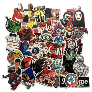 50PCS Stickers Retro Grab Bag - The Lazy Raven