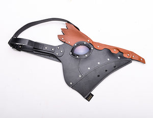 Studded Leather Plague Mask With Colorful Lenses