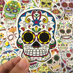50 Pcs Skull Stickers Grab Bag - The Lazy Raven