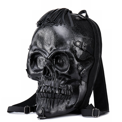 Leather Skull Tassle Backpack