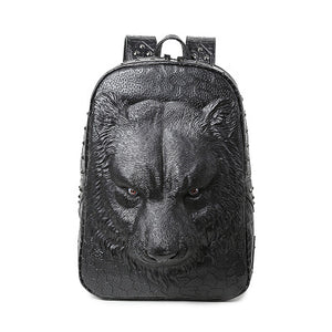 Leather Wolf Backpack