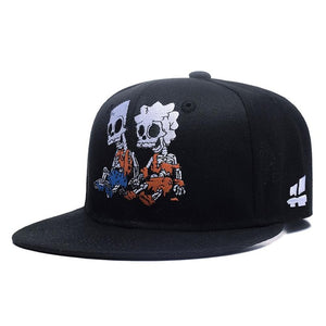 Zombie Skeleton Embroidery Snapback