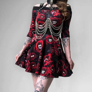 "Gothic Two Piece ""Bloody Kiss"" Top and Bottom"