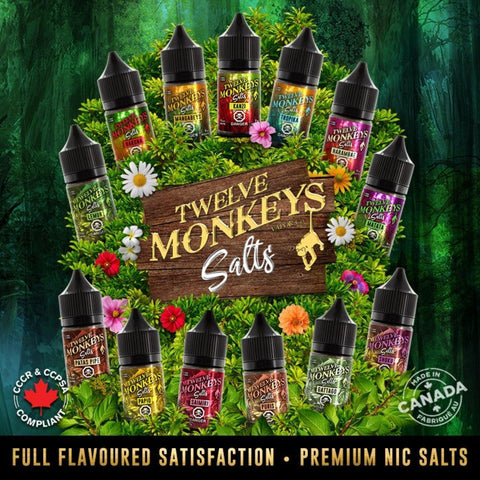 12 Monkeys Salts 30ml - vapecave.ca