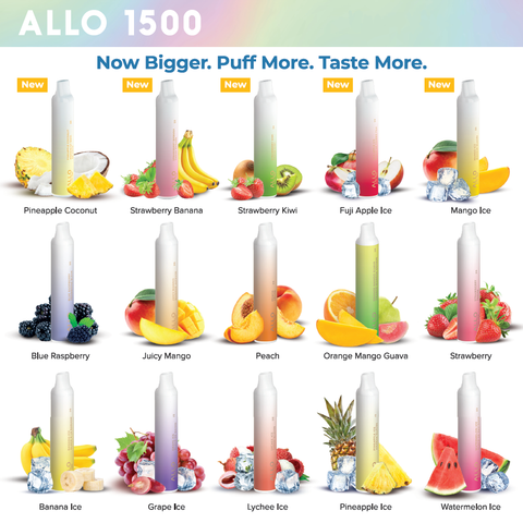 Allo 1500 Disposable - vapecave.ca