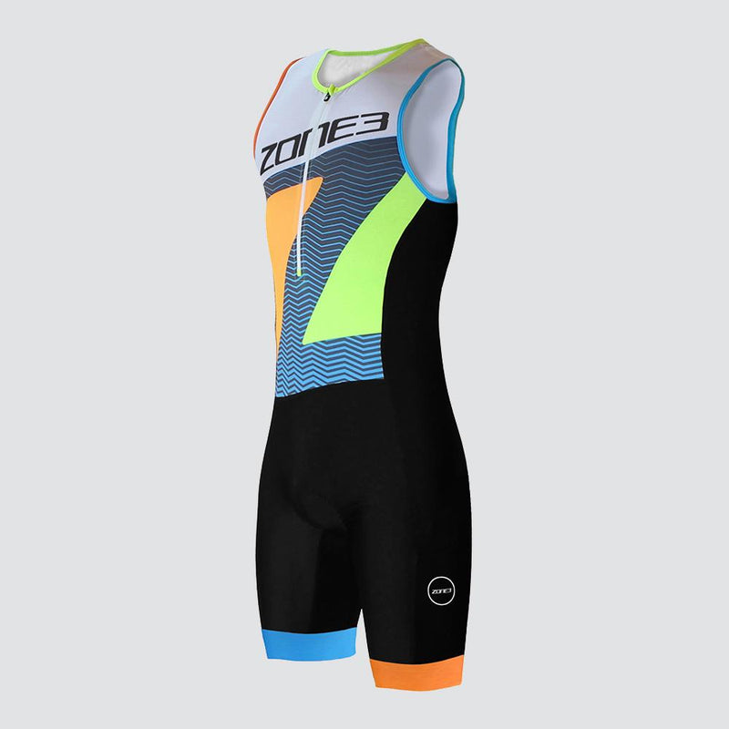 TRIFONCTION MEN'S LAVA LONG DISTANCE TRISUIT - NOIR/ROUGE/BLANC