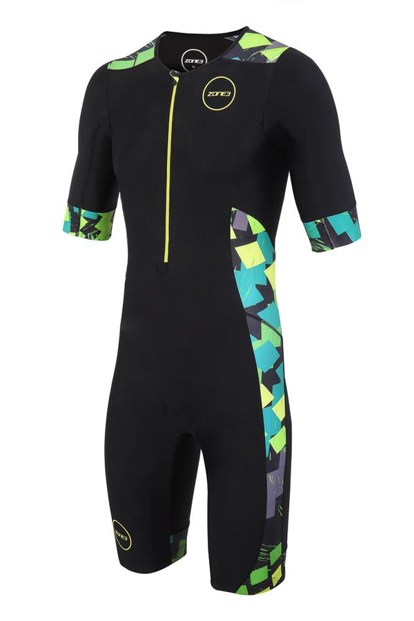 Combinaison trifonction Men's Activate Plus SS Trisuit - MIDNIGHT CAMO - NOIR/ORANGE/BLEU