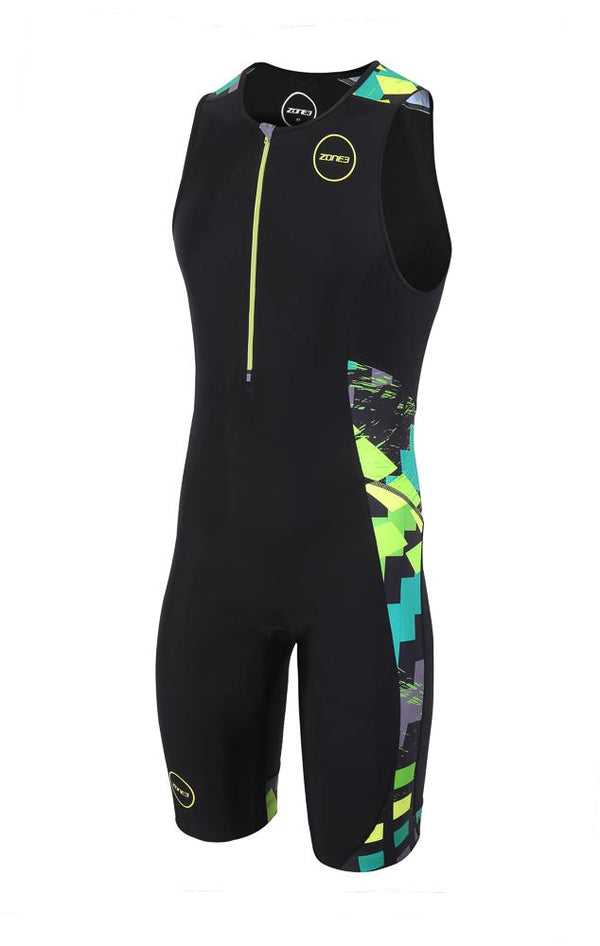 Combinaison trifonction Men's Activate Plus Trisuit - MIDNIGHT CAMO - NOIR/ORANGE/BLEU