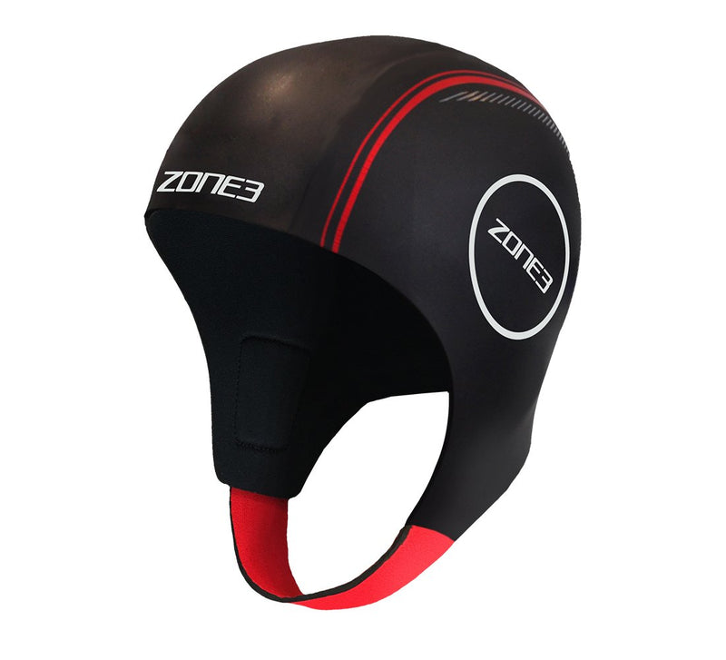 Bonnet de natation NEOPRENE - BLACK/RED