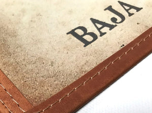 The Baja Map - Leather Bound Scroll Edition